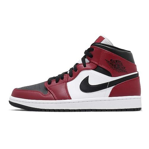 Buy Nike Mens Air Jordan 1 Mid Chicago Black Toe Basketball ...