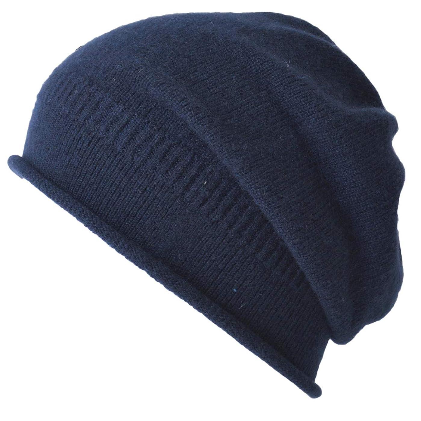 初心者フォークコンピューター(カジュアルボックス) 秋冬 日本製 ニット帽 カシミヤ ライン ビーニー ワッチキャップ ユニセックス