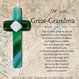 Made Like You Great-Grandma Handmade Glass Cross With Poetry
