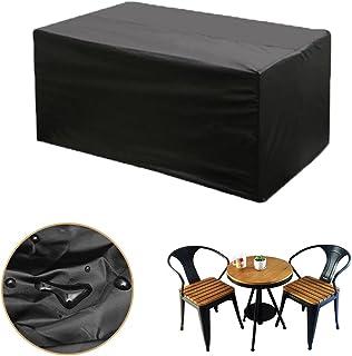 king do way Funda para Muebles de Jardín Exterior 123x61x72cm Conjuntos de Muebles Cubierta Impermeable para Sofa de Jardin, al Aire Libre, Patio, Plazas Funda para Sofa de Esquina, 420D, in PVC