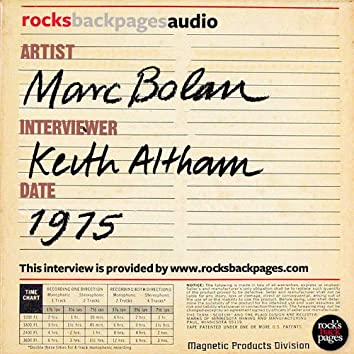 Marc Bolan Interviewed By Keith Altham