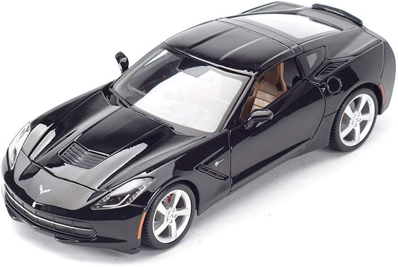 precioso Maisto 2014 Chevrolet Corvette Alloy Coche 1 18 18 18 Modelos a Escala y vehículos de Juguete de Juguete de Metal de Juguete para Niños Juguetes para Niños Regalo Modelos Escala Vehículos ( Color   negro )  grandes ahorros