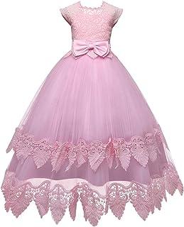Vestido de princesa de las niñas Vestido de fiesta de boda de la princesa de la falda trajes de las muchachas Modelos niña...