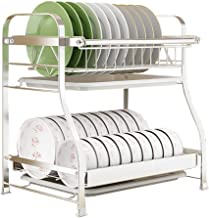 Tableware Storage, Drain Rack/Drain Rack Kitchen Dish Drainers Compact Cutlery Rack Multifunction Kitchen Shelves (Color : 2 Tier)