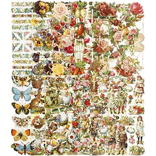 Vintage gestanzt, Blatt 16,5 x 23,5 cm, Ganzjahres-30 Blatt