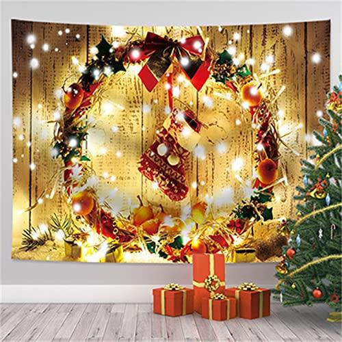 YYRAIN Navidad Poliéster Colgante De Pared para El Hogar Sala De Estar Dormitorio Decoración De La Pared Tapiz Hotel Café Paño para Colgar Mantel Multifuncional 59x39 Inch{W150xH100cm}