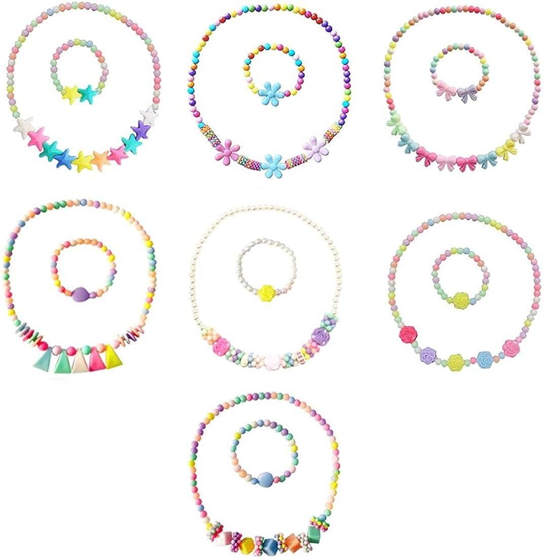Price reduction Klorify 7 Sets Princess Necklace Little Girl Bracelet Kit Gift security f