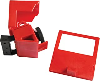 Lockout Safety Supply 7257 480/600V Clamp-On Breaker Lockout-Cleat, Red