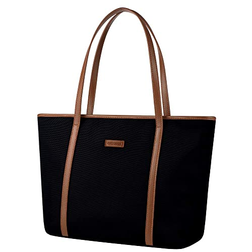 b5f68589935d CHICECO Large Nylon Work Tote for Women (Black Brown