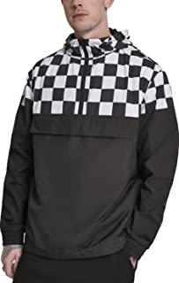 Urban Classics Men's Check Pull Over Jacket