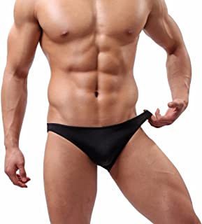 FEESHOW Men's Smooth Stretch Bikini Swimwear Underwear Swim Briefs