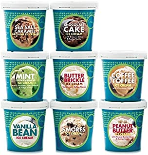 eCreamery Treat Yourself - Gourmet Specialty Handcrafted Ice Cream 8 Pack of our Bestselling Flavors
