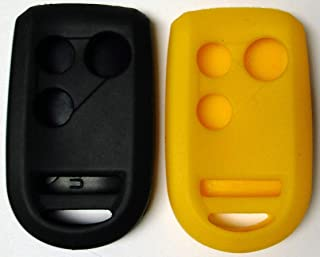 Pair of Black and Yellow Silicone Rubber Key Fob Covers Fits Honda Goldwing Motorcycle Remote 2012 2013 2014