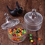 ComSaf Bonboniere mit Deckel Ф10cm 2er-Set, Zuckerdose aus Glas Klein, Lebensmittelechter Glasbehälter für Snacks - 2