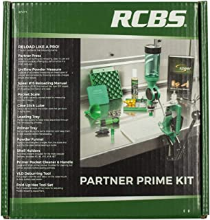 RCBS 87471 Partner Prime Single Stage Press Kit Reloading Multi Caliber Cast Aluminum