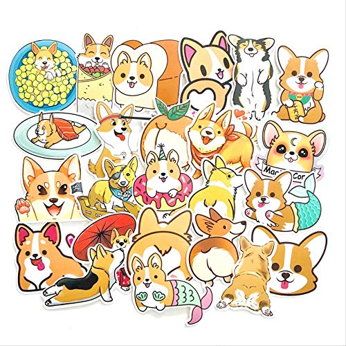 Welsh Corgi Stickers Cute Animal Dog For Moto Car Suitcase Cool Laptop Skateboard Hydro Flask Sticker 25Pcs