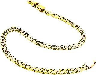 Bracciale Oro Giallo 18kt (750) Maglia Rombo Cm 20 Uomo Donna