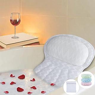 Bath Pillow, Luxury Bathtub Pillow, Ergonomic Spa Bath Pillows for tub with 4D Mesh Technology and 6 Suction Cups,Tub Pill...