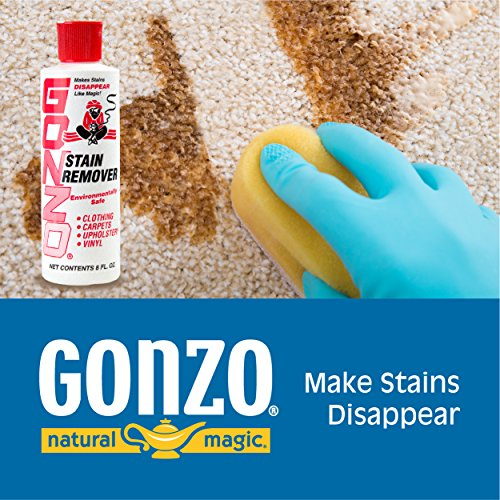 Gonzo Natural Magic Stain Remover - Non-Toxic Carpet Clothing Sweat Wine Blood Laundry Stain Remover and Cleaner - 8…