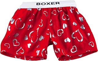 Red Satin Heart Boxer Teddy Bear Clothes Fit 14