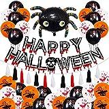 Ganmaov Juego de decoración de Globos de Halloween, Suministros de Carteles de Fiesta temáticos de látex Seguros para la Fiesta de Halloween de Cosplay