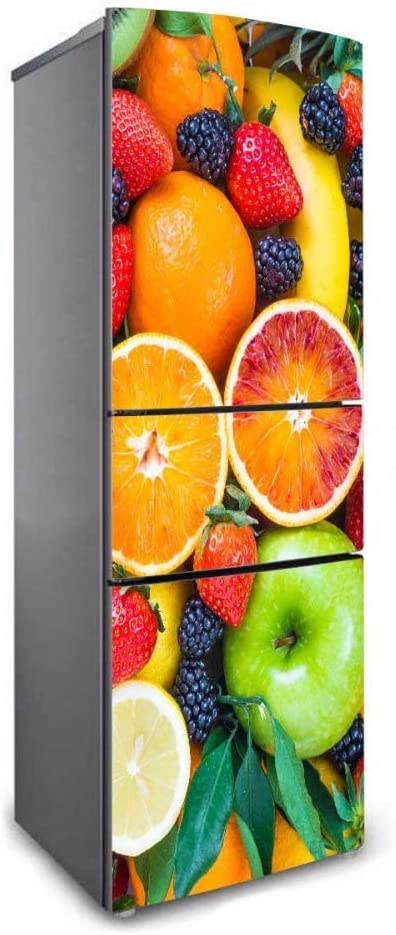 Sanhai 3D Free shipping anywhere in the nation Refrigerator Door Sticker Pattern Printing Fruit Max 52% OFF Stick