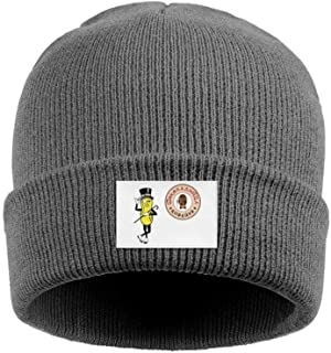 Mr. Peanut Vs шц Acrylic Knit Hat Winter Warm Cuffed Thick Ski Cap Unisex
