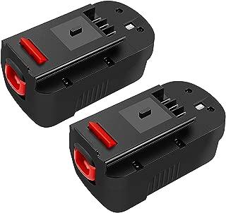 Energup Upgraded 2 Pack 3500mAh Black & Decker 18V Replacement Battery for HPB18 HPB18-OPE 244760-00 A1718 FS18FL FSB18 Firestorm Black and Decker 18 Volt Battery