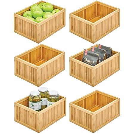 apilables Contenedores para almacenaje abierta para guardar cosas Medida cajones de 200x135x105 mm. Lote 12 unidades fabricada en madera reciclada MDF Gavetas organizadoras