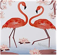 "Pink Flamingo Home Printed Fashion Square Comfortable Seat Cushions Chair Pads Office Soft Cushion - 15"" x 14"""