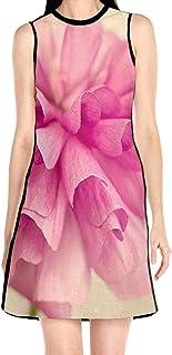 ブラックローズ 花 ピンク 花柄ワンピース ワンピース レディース カジュアル 夏物 夏服 スカート おしゃれ 洋服 ファッション 流行る