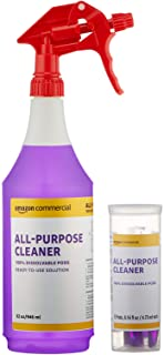 AmazonCommercial Dissolvable All-Purpose Cleaner Kit with 12 Refill Pacs