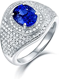 tanzanite oval ring with diamonds