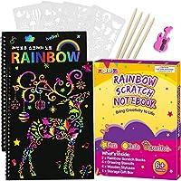 2-Pack Pigipigi Rainbow Scratch Paper for Kids