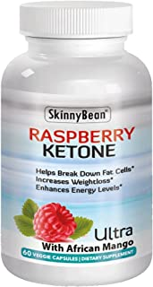 Keto Raspberry, Plus™ Ketones Potent Fat Burner Capsules Plus African Mango Extract Powder for Weight Loss Diet Pills with Grape Seed & Apple Cider Vinegar