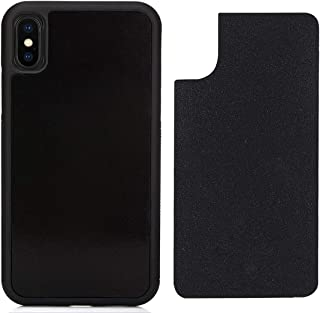 CloudValley Anti Gravity Case for iPhone Xs MAX (2018), Phone Cases Magical Nano Can Stick to Smooth Flat Surfaces - Black
