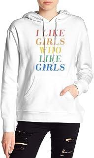VJJ AIDEAR Lesbian Women's Sweater Printed Hoodied Long Sleeve Coat