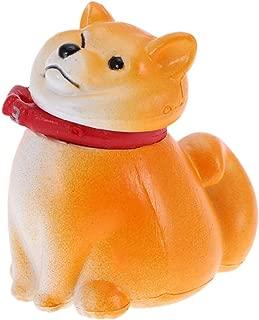 Vosarea Shiba Inu Figurine,Dog Miniature Sculpture, Cute Dog Micro Landscape Succulents Decorations for Home Decor (Yellow)