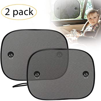 4 Pack 19x 12 Window Stick-on Cling Removable peelable Sunlight Glare UV Rays Protection for Baby Car Office Tesla Sunroof Sunshade Total Blackout Sun Shade
