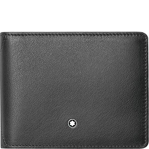Montblanc 118351 Meisterstück Sfumato Brieftasche klein 4 cc Leder 11,5 x 8,5 cm Schwarz
