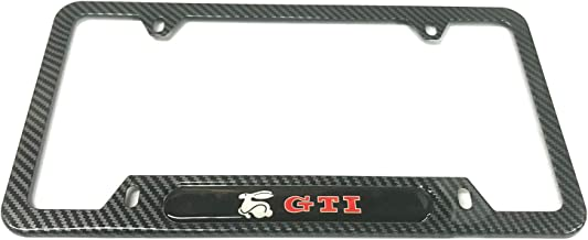 1 Mesport Carbon Fiber Style Stainless Steel Rust Free WRX License Plate Cover Frames Holder with Screw Caps for Subaru
