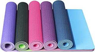 Yoga mat, double-sided two-color environmental protection, non slip texture surface, tasteless and light weight, TPE high ...