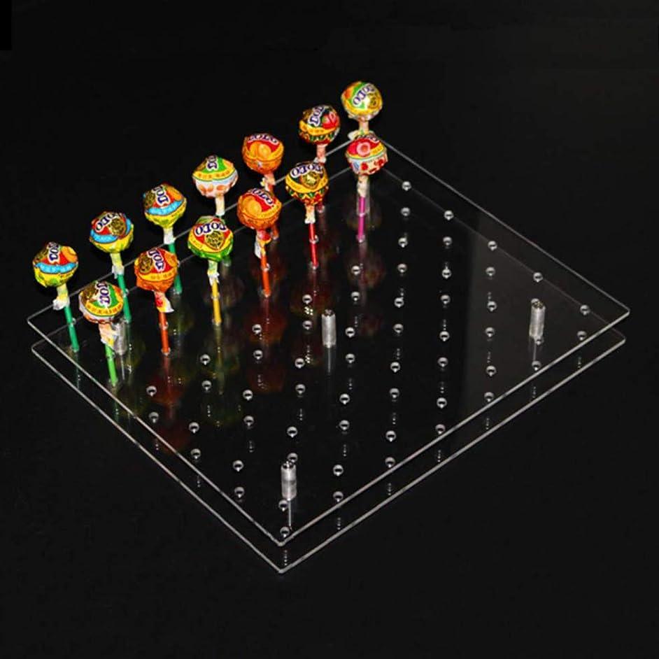 42 Hole Acrylic Lollipop Stand Decorating Transparent Cake Ball Holder Display Holder Base Shelf (42 Hole)