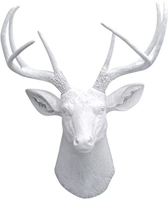 Aluminium Wall Mountable Silver Stag Head for Home or Garden Black Scorpion Limited 13-00019
