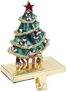 Kurt Adler Zinc Christmas Tree Stocking Holder Decor