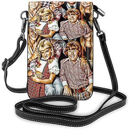 Brady Bunch Umhängetasche für Handys, Einheitsgröße, lustig, grafisch, klein, für Damen