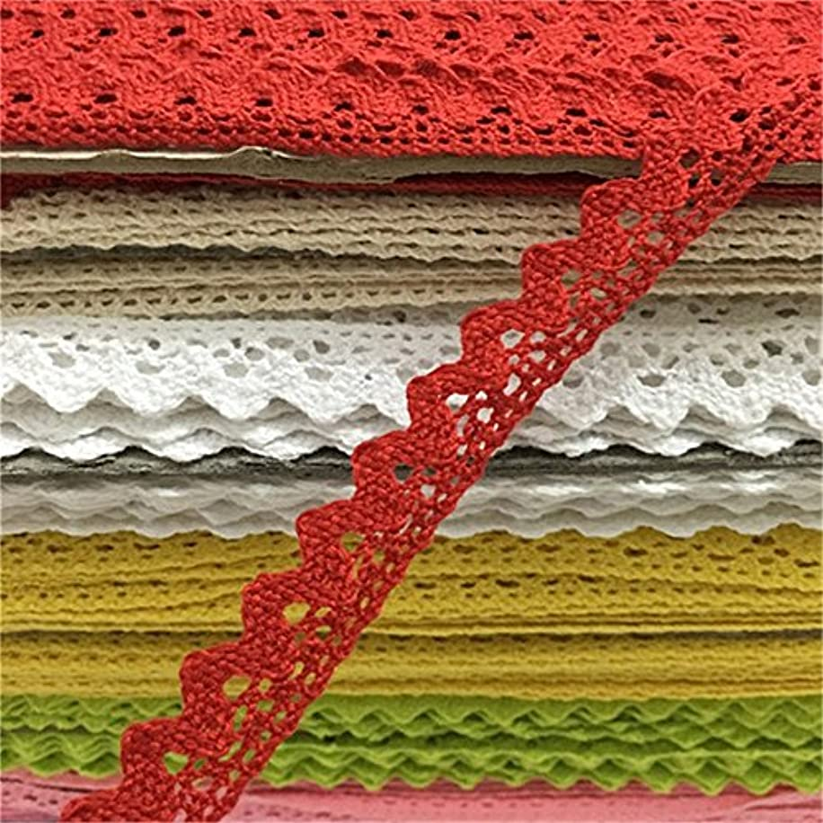 OZXCHIXU(TM) 2 meters Sewing Lace Ribbon Trim Guipure 18mm width for Scrapbooking Gift Packing (red)