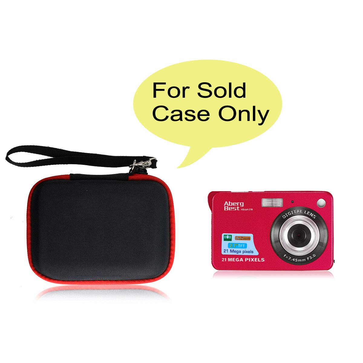 Co2crea Hard Travel Case Replacement For Abergbest 21 Mega Pixels 2 7 Lcd Rechargeable Hd Digital Camera Video Camera Digital Students Cameras Black Case Inside Red Amazon Sg Electronics