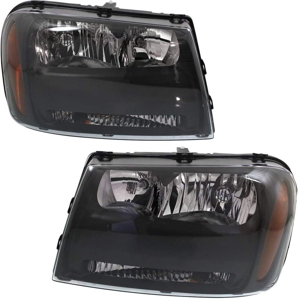 For Chevy Trailblazer Challenge the lowest price of Japan ☆ Headlight Assembly 2006 Max 85% OFF Dr 2009 Pair 07 08