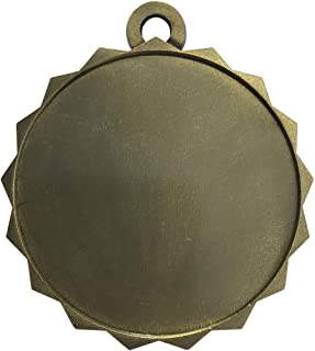 10-Pack of Blank 2-1/4 inch Gold Color Insert Medals Trophy with Neck Ribbons Metal Awards